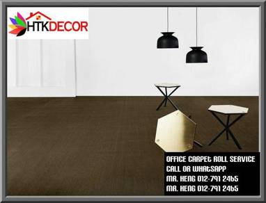Classic Plain Design Carpet Roll with Install 45y