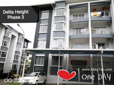 Delta Height Phase 3 with Balcony for RENT   1,095 sqft
