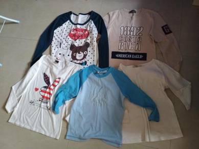 5 Helai Baju Budak / Kids T-Shirts