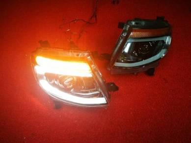 Ford ranger t6 led headlamp head lamp light e