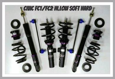 D2 adjustable hilow softhard for HONDA CIVIC FC