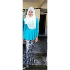 Peplum Turquoise