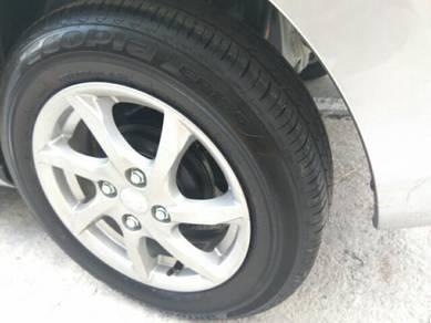MYVI Sportrim 14 inc with tyre ( 5 sets ) original