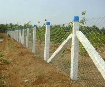 Pasang pagar dawai putih & Hijau pro & Chainlink