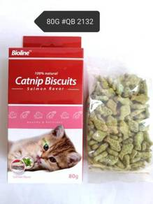Bioline Catnip Biscuit Salmon Cat Snack Kucing 80g