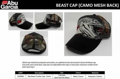 Abu Garcia Revo Beast Trucker Cap Camo Topi Caps