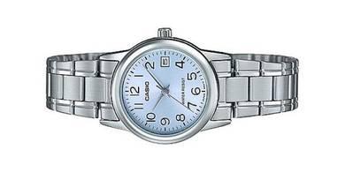 Casio Ladies Analog Date Watch LTP-V002D-2BUDF