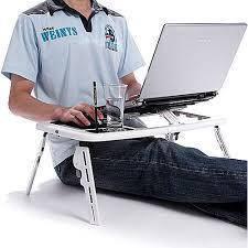 E-Table Meja Lipat Laptop Kipas USB