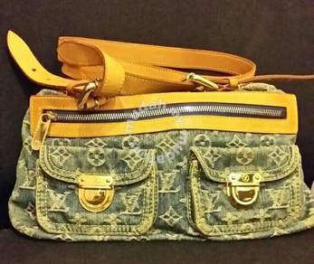 Authentis Louis Vuitton Blue Denim Cross Body Bag