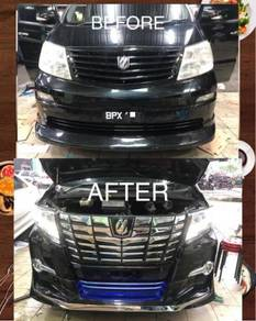 Toyota alphard ahn10 2003 convert ahn30 2015