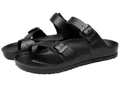 F0253 Black Flip Flop Sandal Slipper Kasut Shoes