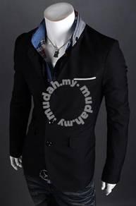 Korean stylish character buttoned blazer coat