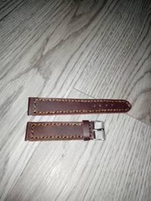 Tali jam kulit 22mm handmade
