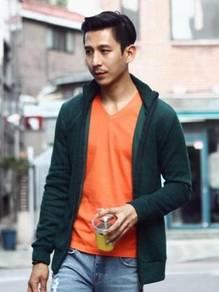 11846 Green Korean Stand Collar Men Jacket Sweater