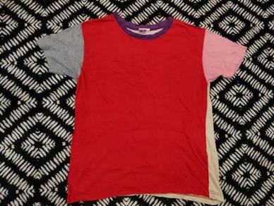 Colour block t shirt size m