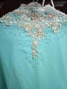 Veil turqoise + white pearls