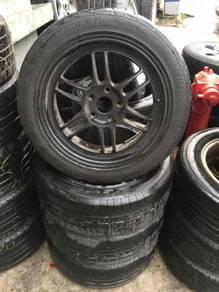 17 used rim enkei rpf1 & used tyre