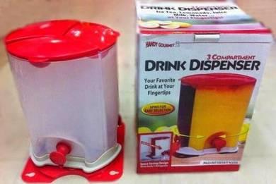 Kdh - 3 compartment drink dispenser