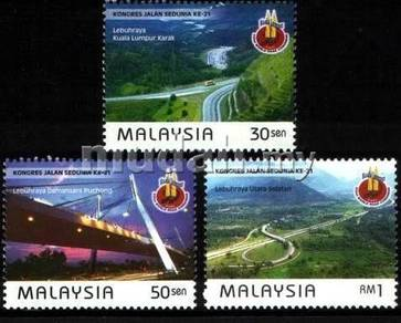Mint Stamps World Road Congress Malaysia 1999