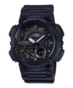 Watch- Casio Telememo AEQ110W-1B -ORIGINAL