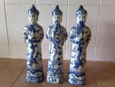 3501 Patung Chinese Oriental men figurines 3