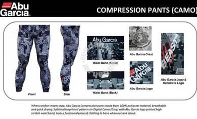 ABU GARCIA COMPRESSION CAMO PANTS - Seluar Pant