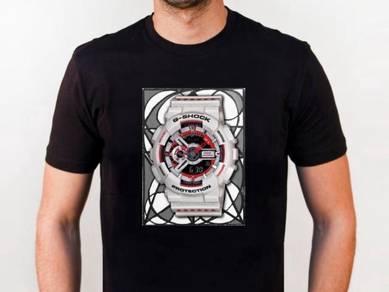 Baju T-Shirt G-SHOCK 12 NSQ224 siap poslaju