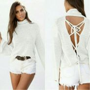 Backless long sleeve top