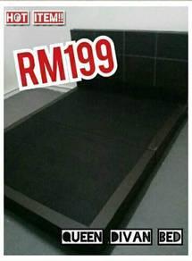 Queen divan bed murah 199