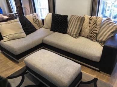 Lazio large corner l sofa