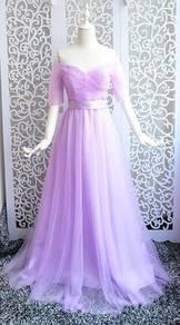 Off shoulder wedding bridal bridesmaid prom dress