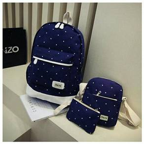 3 In 1 polkadot backpack