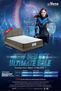 5f bedframe with vono mattress
