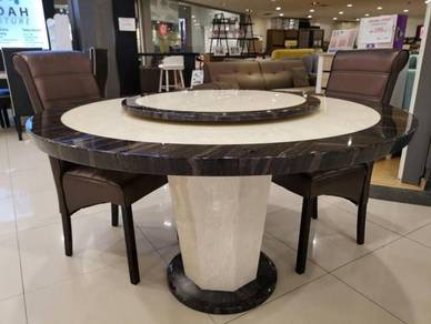 Fully marble 1+6 dining set