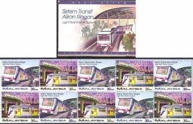 Stamp Booklet Toning Light Rail Transit Msia 1997