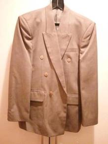 Imported Double Breasted Suit Jacket Size L