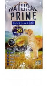 NATURAL PRIME Fish & Brown Rice 12KG