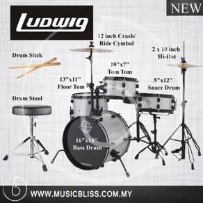Ludwig LC178X029DIR Pocket Kit 4-Piece Drum Kit
