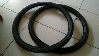 2 New bicycle tyre tayar with tube 24 x 1.75
