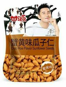 Huang Xiao Ming Crab Roe Flavor Sunflower Seeds