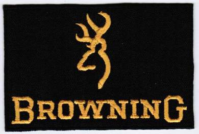 Browning Arms Company Fishing Gun Badge Patch