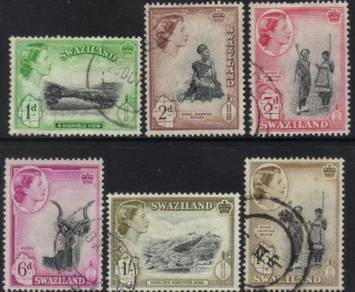 SWAZILAND QEII 1956 stamps CAT 6+ BK902