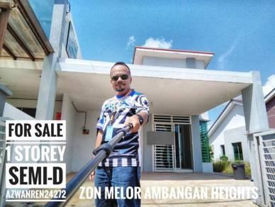 1 Storey Semi-D Zon Melor, Ambangan Heights