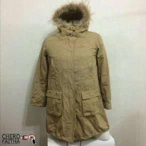 Shuca winter cotton & fur detachable layer parka c