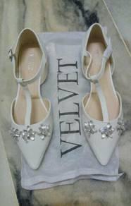 Velvet Flat Wedding Shoes