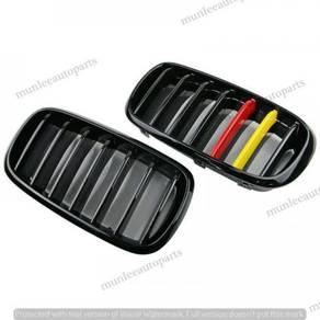 New Grill Glossy Black German Flag BMW X5 F15 X6