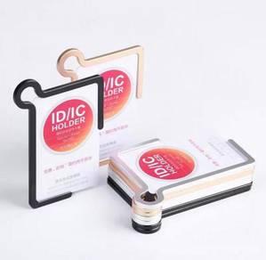 Aluminium Card Holder PU Lanyard