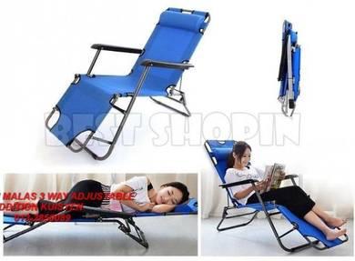 Kerusi malas 3 way adjustable dengan bantal