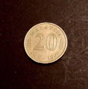 Malaysia 20 sen 1967