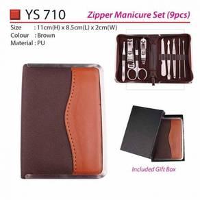 High Quality & Classic Brown Zipper Manicure Set